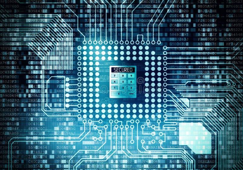 互联网安全数据处理 库存例证