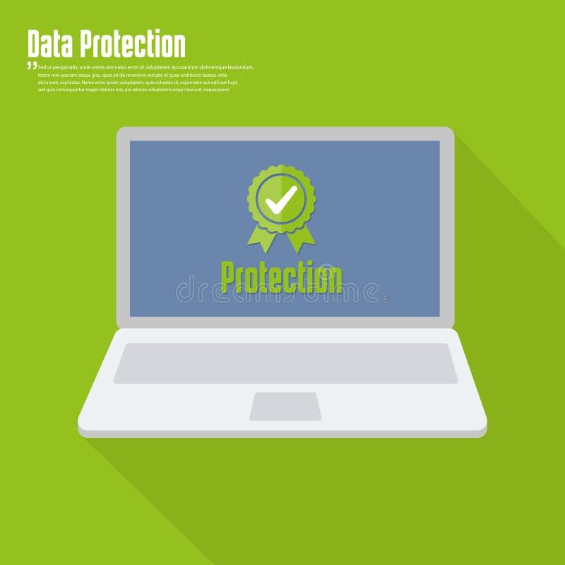 互联网安全概念象 证明和保护simbol 皇族释放例证