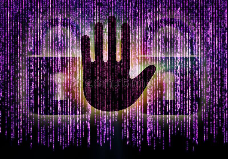 互联网安全的标志 库存例证