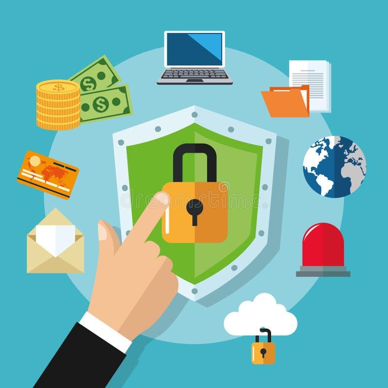 Download 互联网安全设计 系统象 五颜六色的例证,传染媒介 向量例证. 插画 包括有 行星, 技术, 海盗行为, 被宣扬的 - 72371719