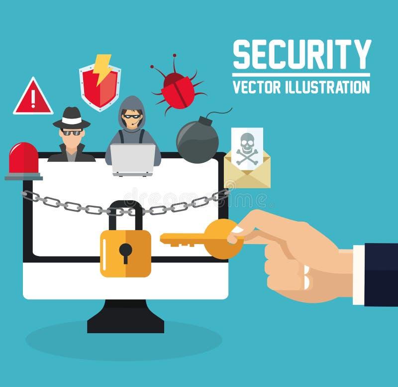 Download 互联网安全设计 系统象 五颜六色的例证,传染媒介 向量例证. 插画 包括有 传染, 威胁, 保护, 发送同样的消息到多个新闻组 - 72371751