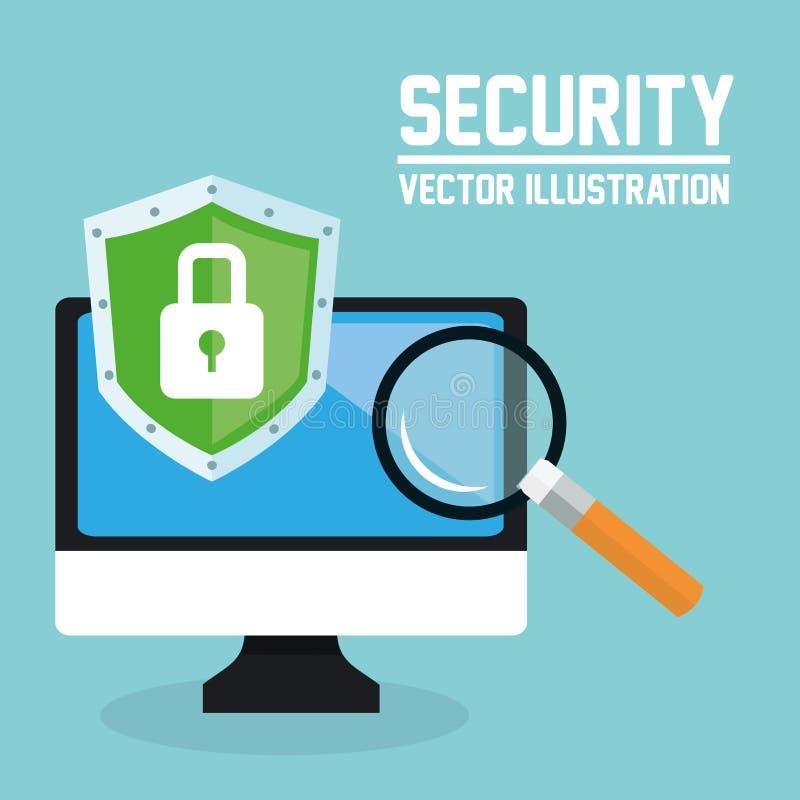 Download 互联网安全设计 系统象 五颜六色的例证,传染媒介 向量例证. 插画 包括有 危险, 发送同样的消息到多个新闻组 - 72371774