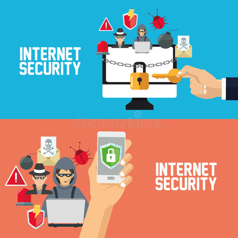 Download 互联网安全设计 系统象 五颜六色的例证,传染媒介 向量例证. 插画 包括有 检测, 向量, 设计, 小心 - 72371799