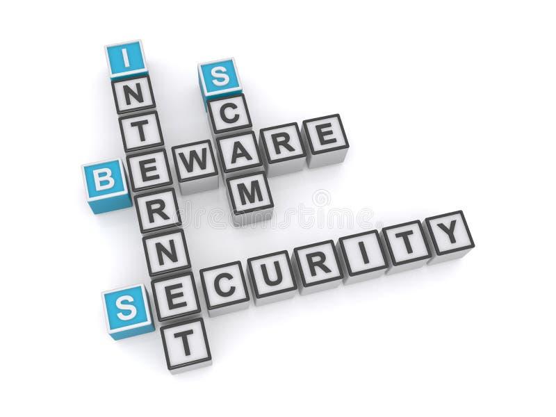 互联网安全诈欺 皇族释放例证