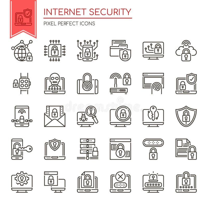 互联网安全 库存例证