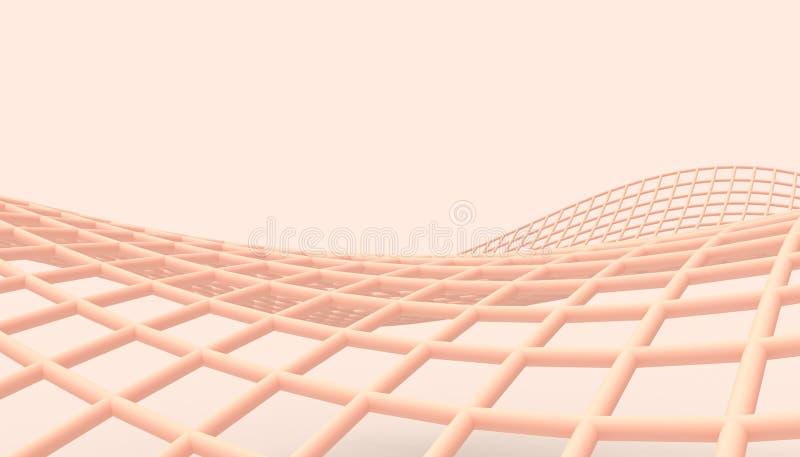 互联网技术和连通性和现代美术桃红色墙壁 向量例证