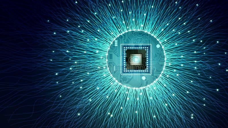 互联网数据处理概念 皇族释放例证