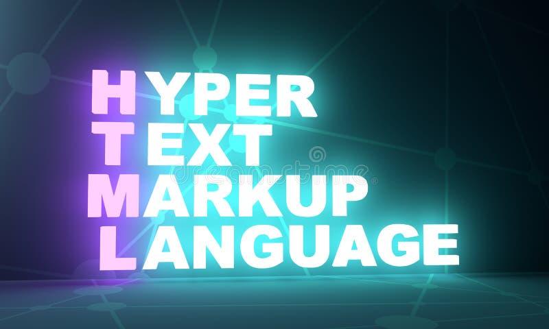 互联网概念首字母缩略词 库存例证