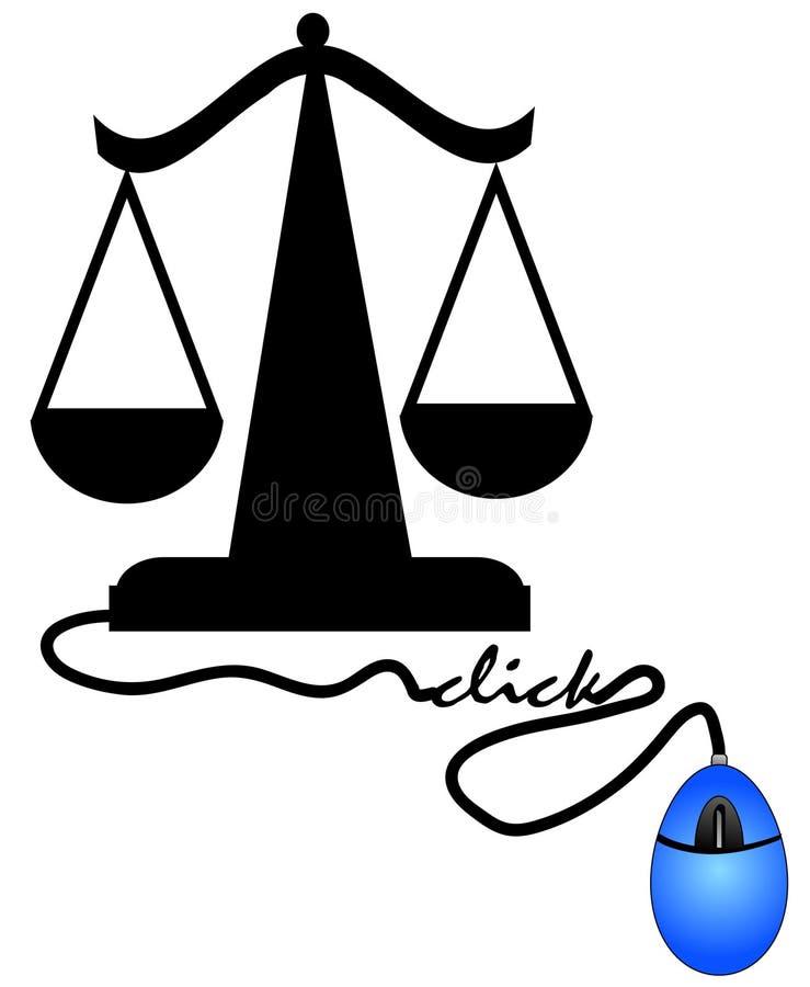 互联网正义 向量例证