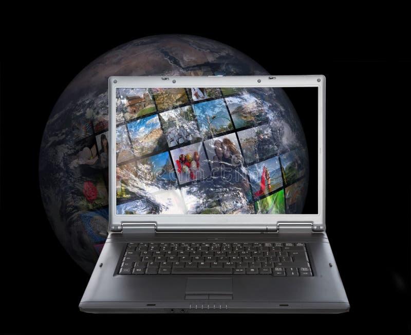 互联网生产技术电视 库存图片