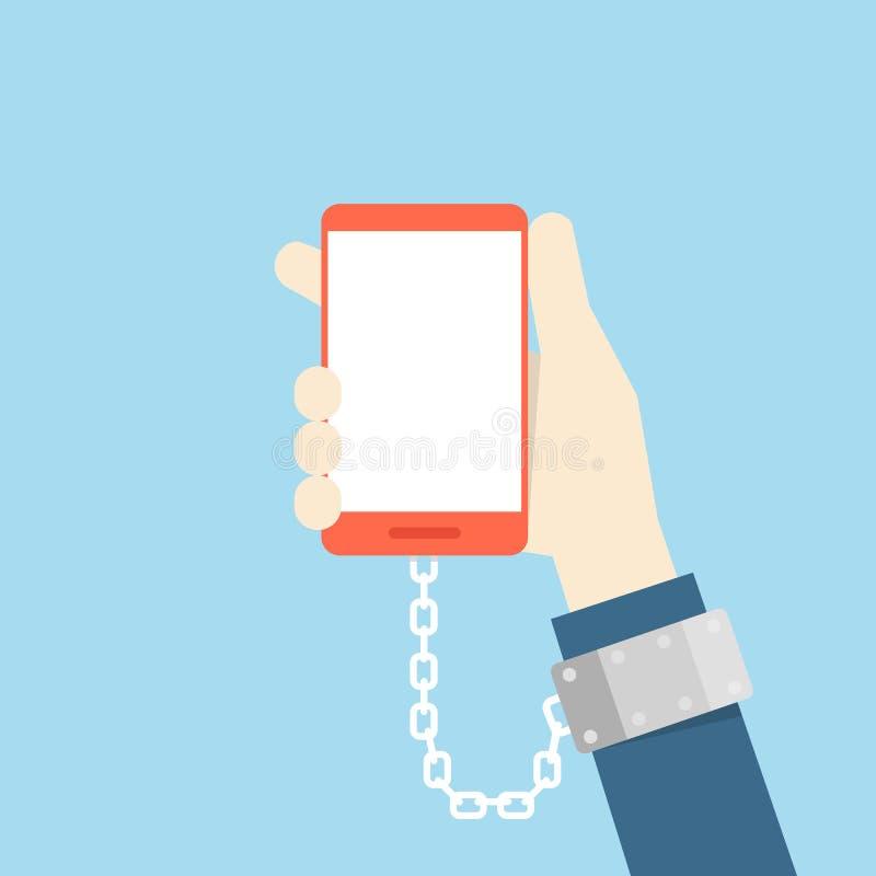 互联网瘾 向量例证
