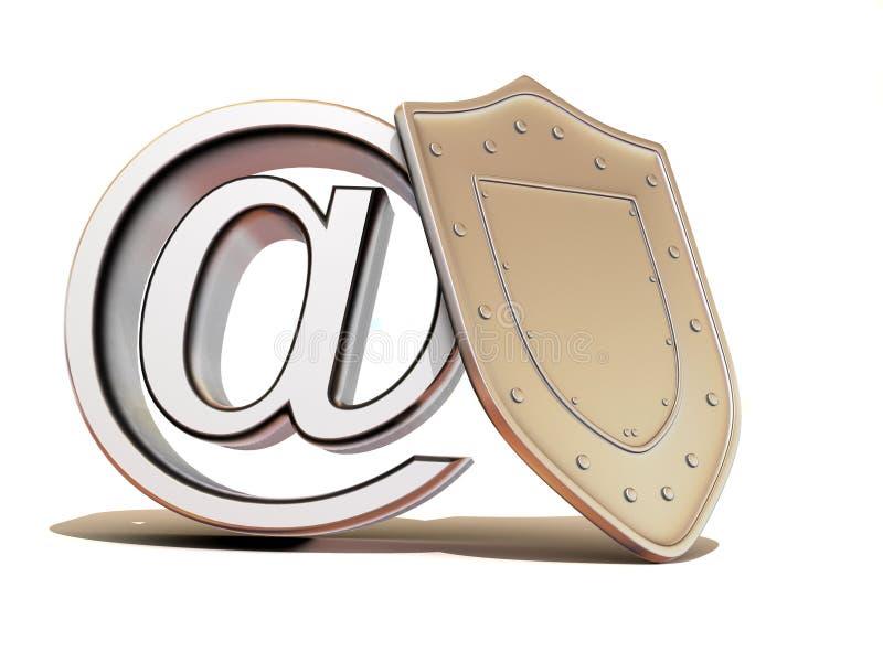 互联网盾符号 皇族释放例证
