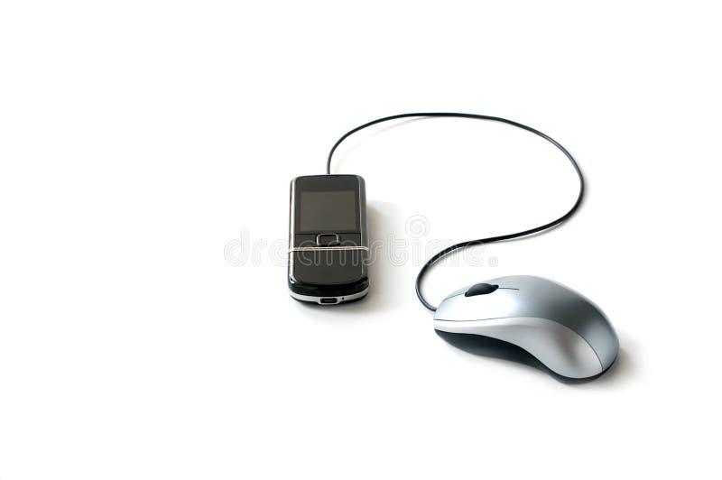 互联网移动电话 库存图片