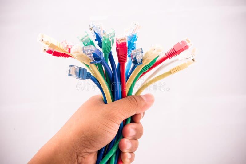 互联网缆绳 库存照片