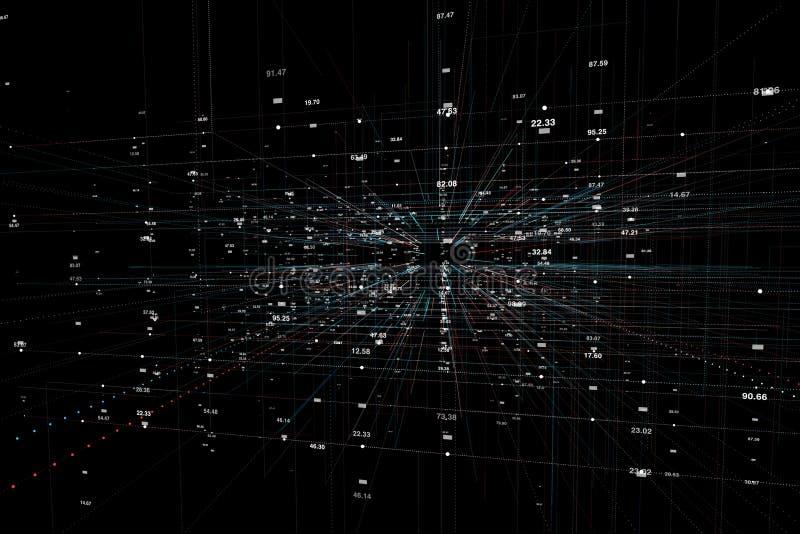 互联网网络技术背景 图库摄影