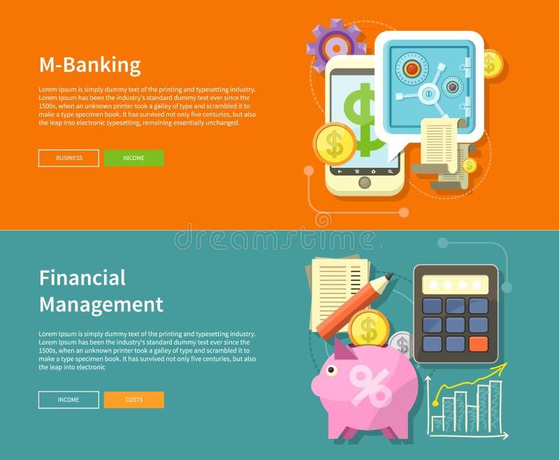 互联网网路银行和财务管理 库存例证