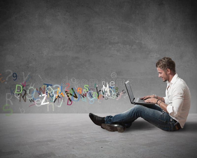 互联网聊天概念 免版税库存图片