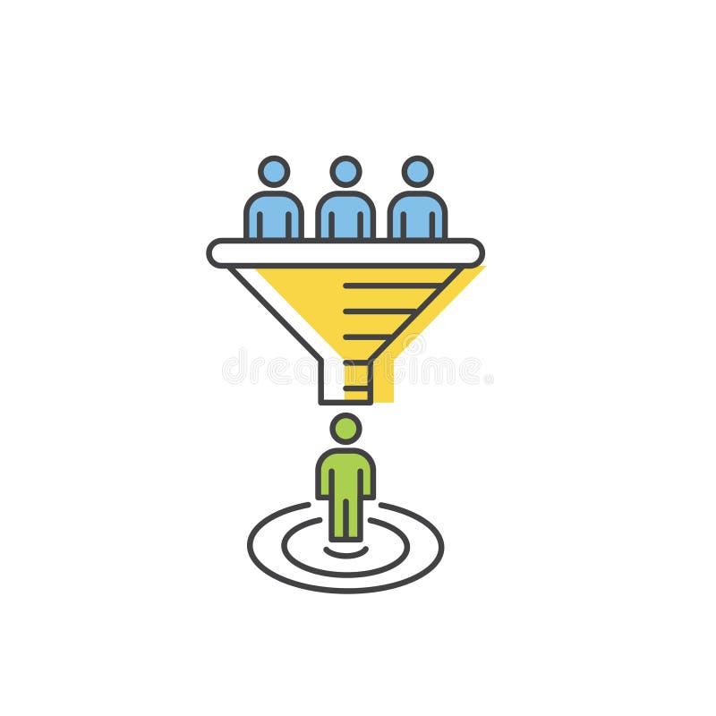 互联网营销转换概念 传染媒介销售漏斗 库存例证