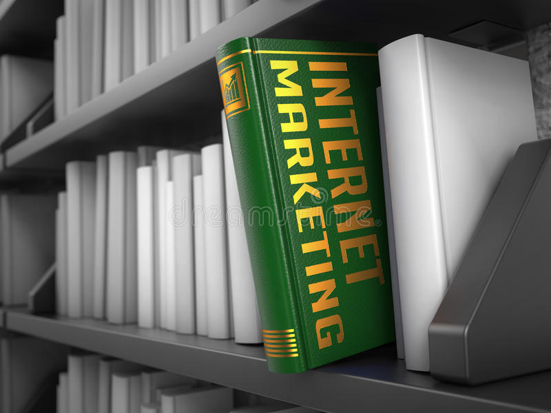 互联网营销-绿皮书的标题 向量例证