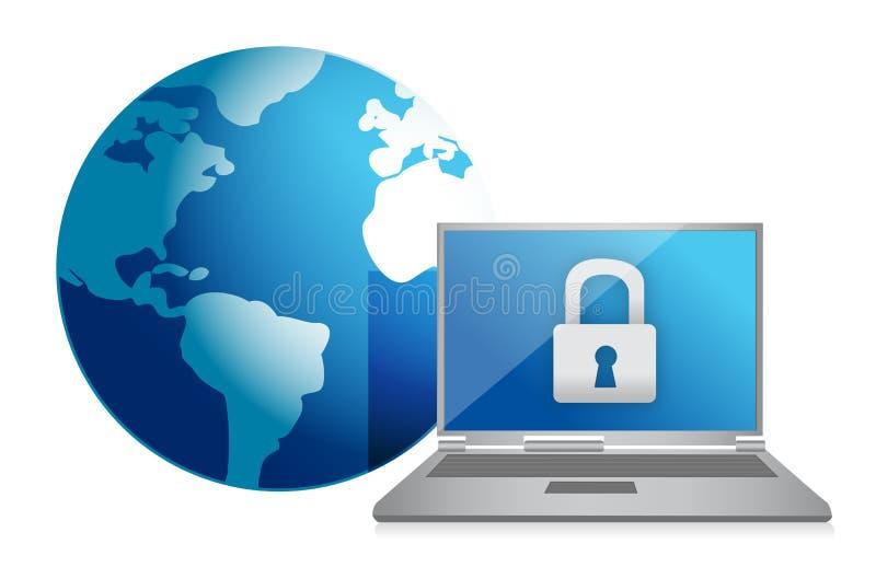 互联网证券概念 向量例证