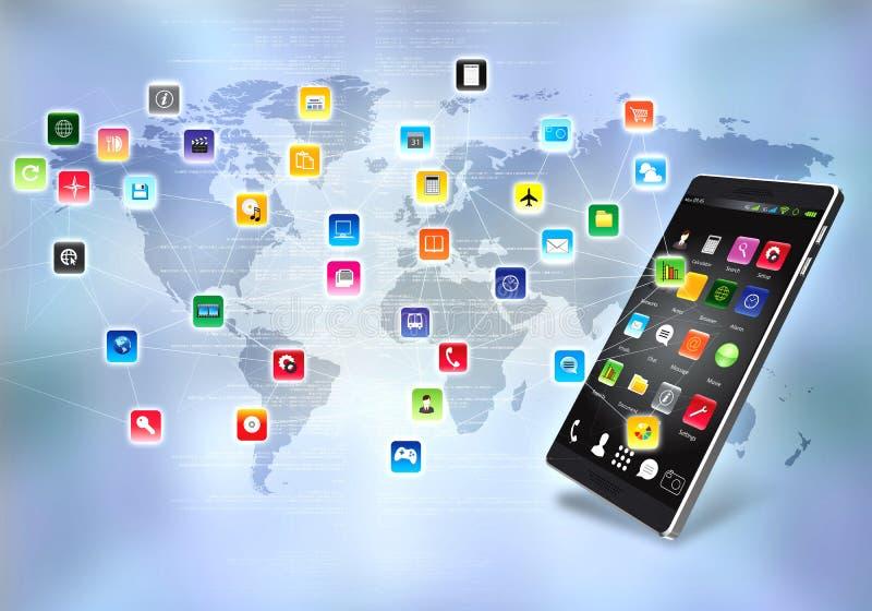互联网软件和应用 向量例证