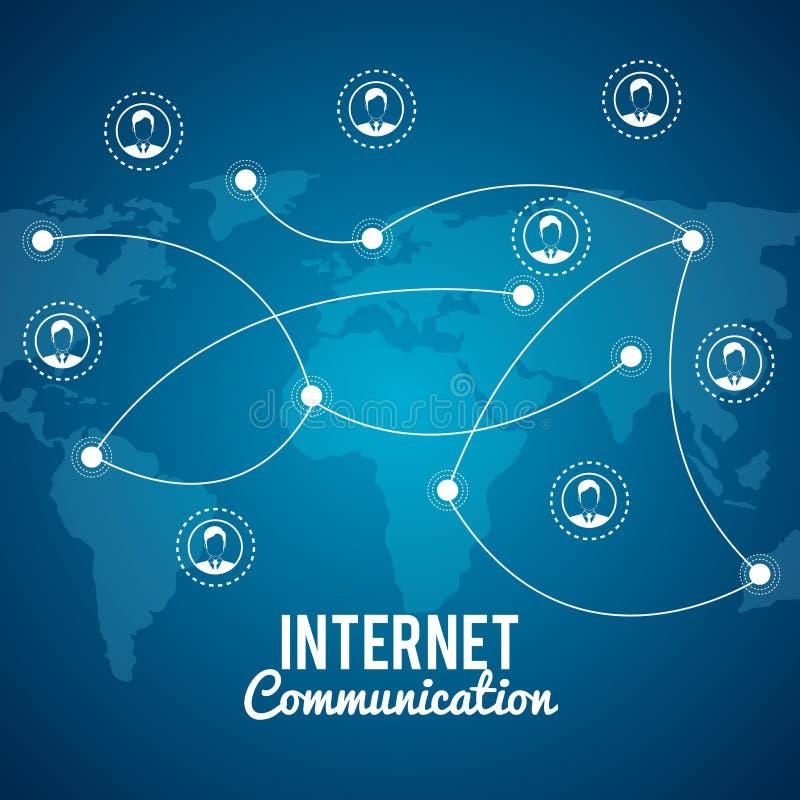 互联网通信设计 库存例证
