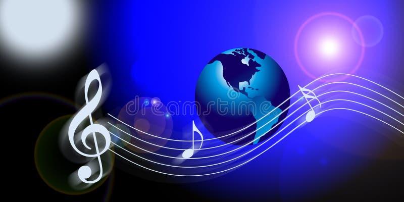 互联网音乐注意世界 向量例证