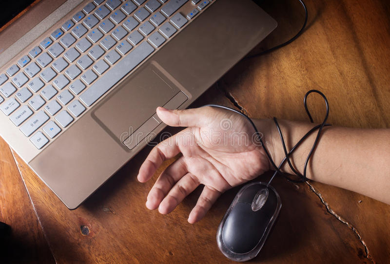 互联网,技术受害者 免版税库存照片