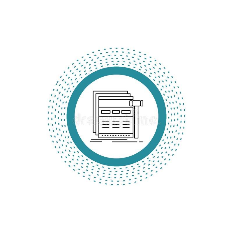 互联网,页,网,网页,wireframe线象 r 库存例证