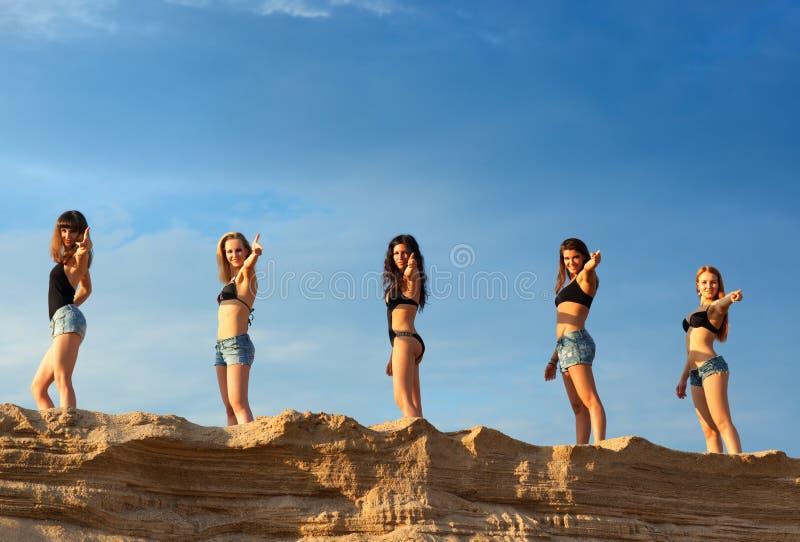 五个少妇 免版税图库摄影