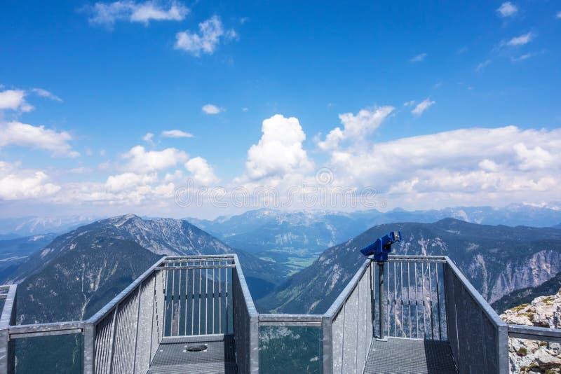 五个手指观察台, Obertraun,奥地利 库存照片