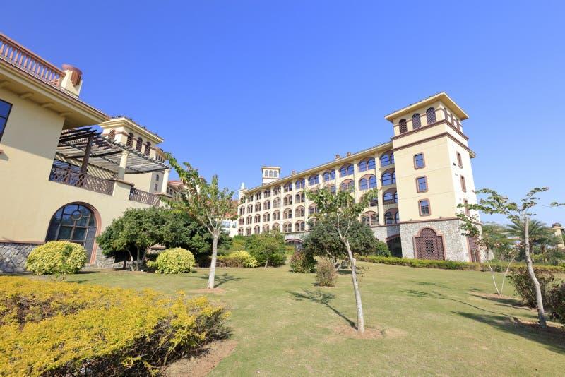 五个星厦门diyuan维多利亚旅馆,多孔黏土rgb 库存照片