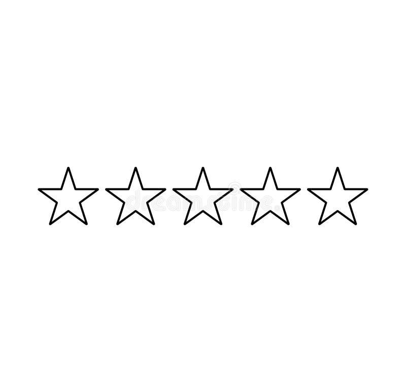 五个星对估计 导航绿色玻璃星 反馈消费者或顾客回顾评估横幅、满意程度和评论家象 皇族释放例证