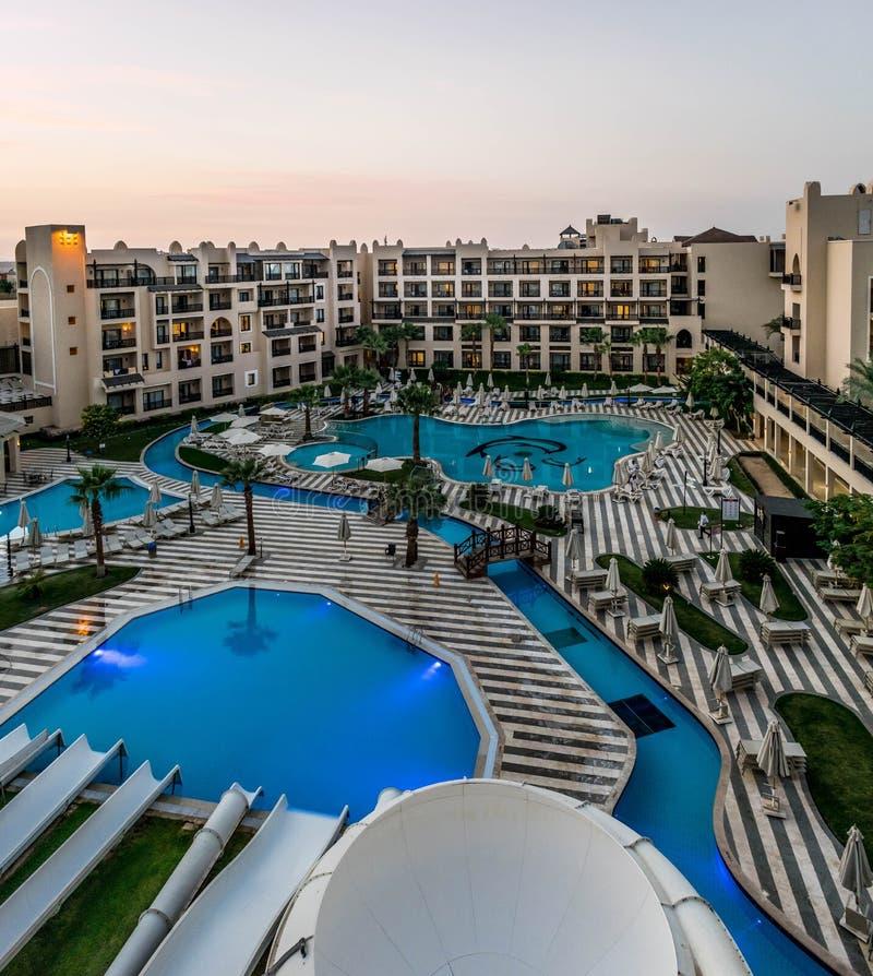 五个星旅馆在洪加达,埃及 库存照片