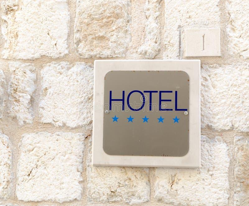 五个星旅馆标志 图库摄影