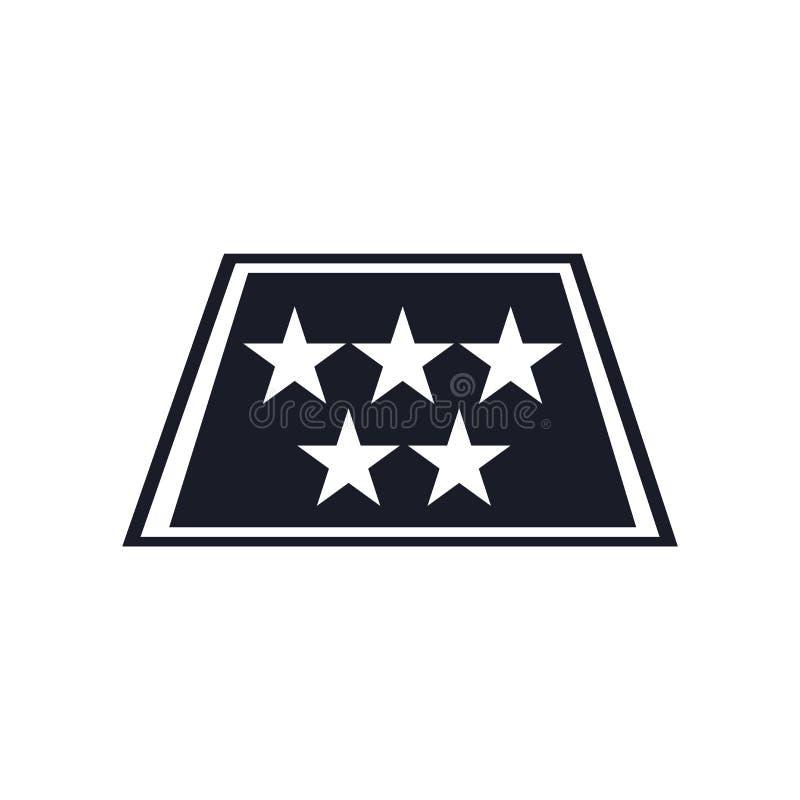 五个星象在白色背景和标志隔绝的传染媒介标志,五个星商标概念 皇族释放例证