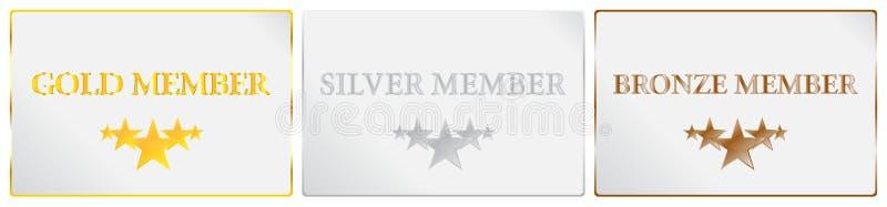五个星质量成员卡片 皇族释放例证