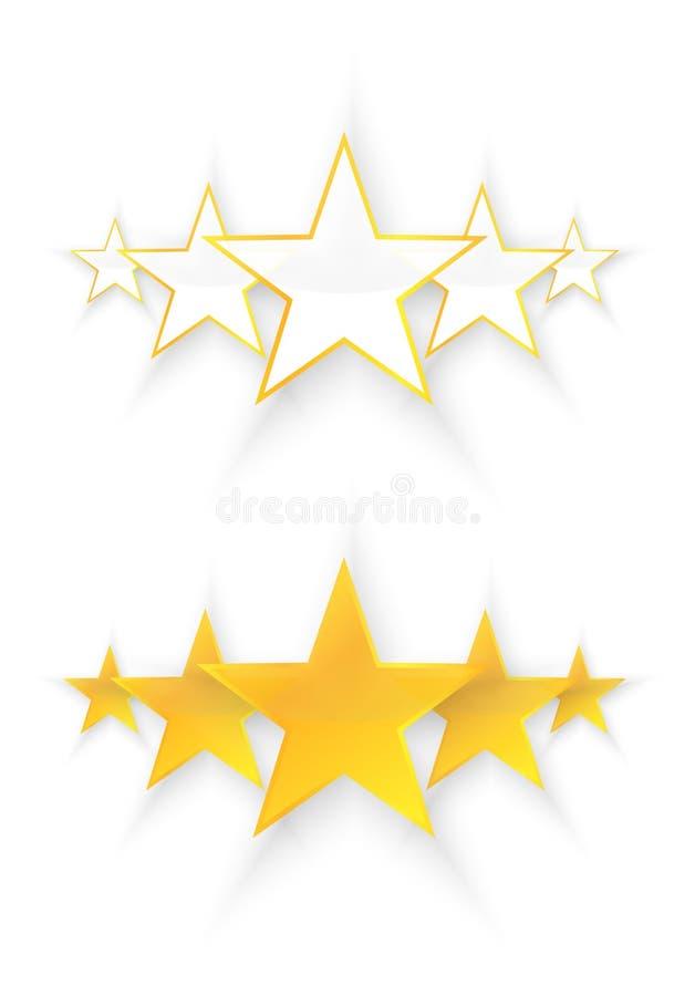 五个星质量 库存例证