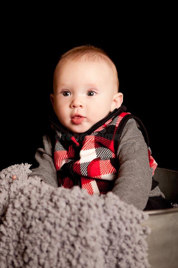 五个月的男孩 免版税库存图片