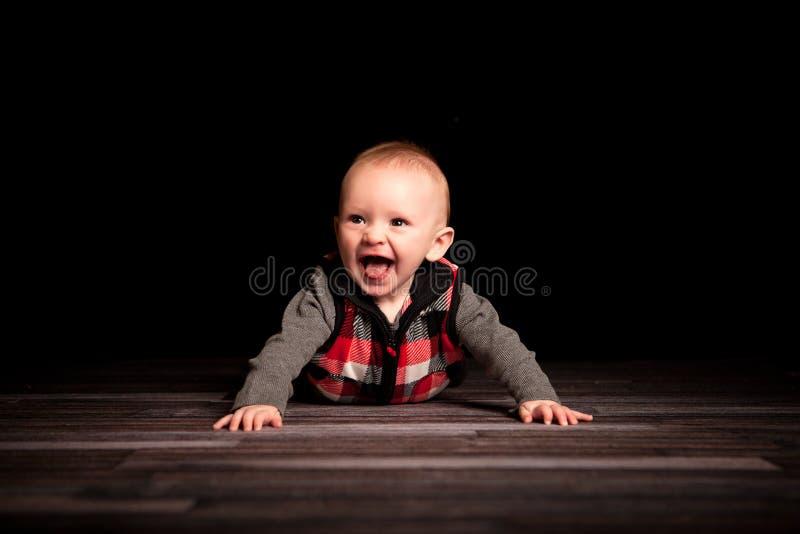 五个月的男孩 免版税图库摄影