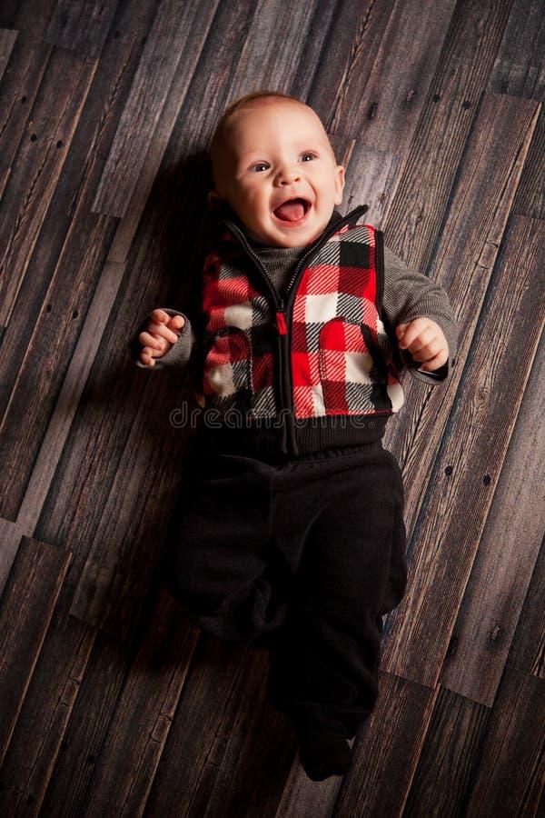 五个月的男孩 库存照片