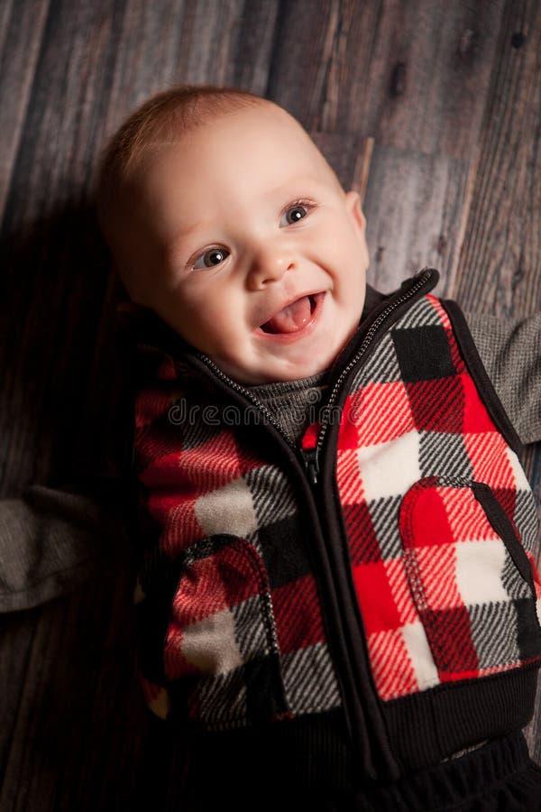 五个月的男孩 免版税库存照片