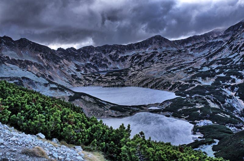 五个湖谷  库存图片