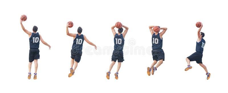 五个球员 免版税库存图片