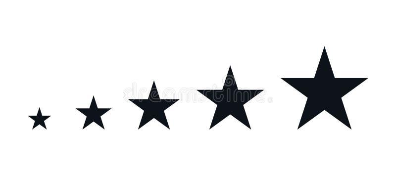 五个黑星 向量例证