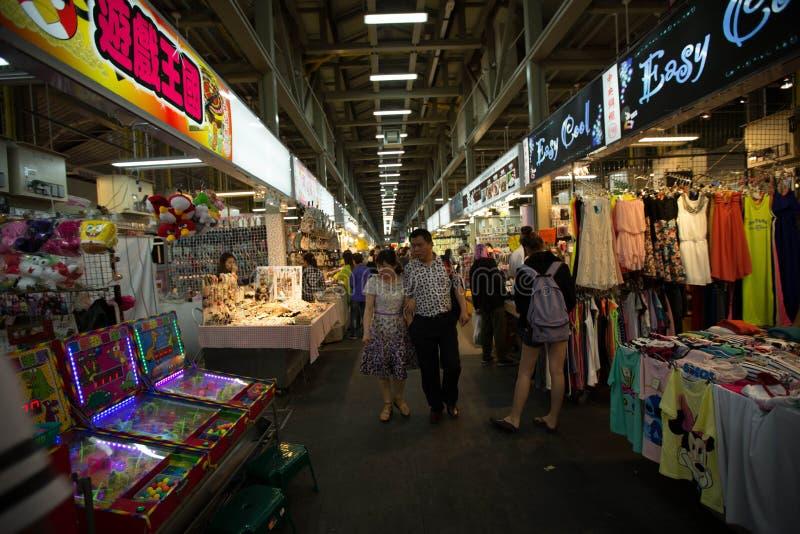 五分埔,台湾为批发服装市场是最响誉 库存照片