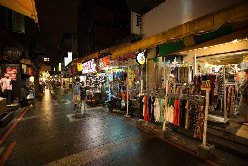 五分埔,台湾,是一批发服装夜市 图库摄影