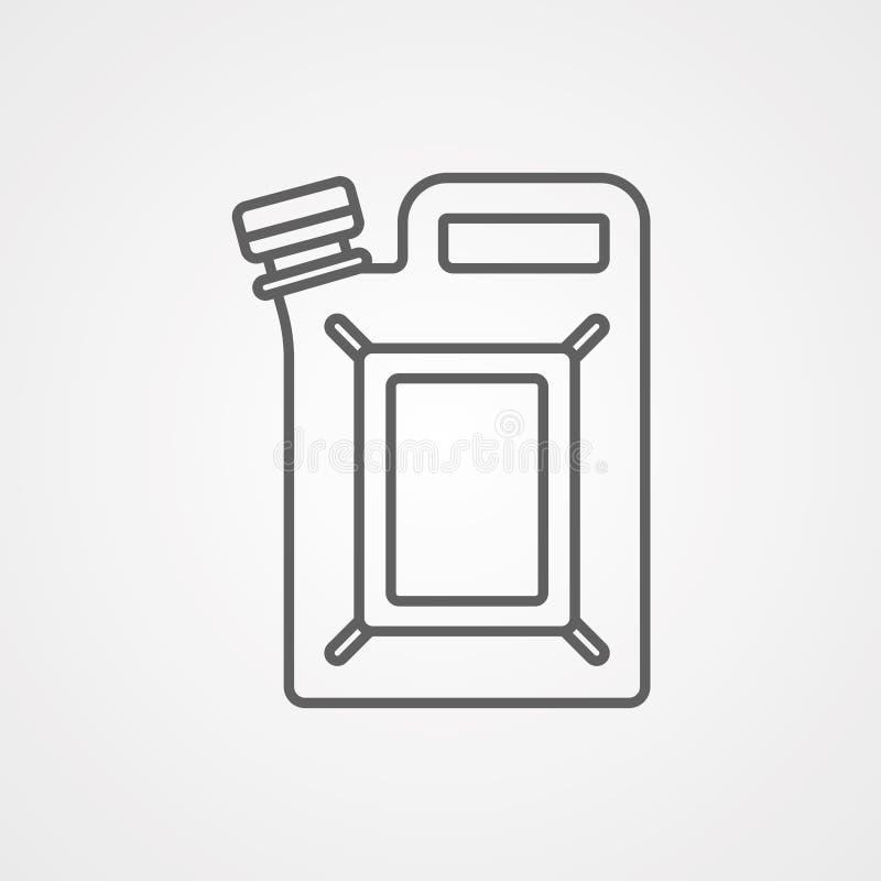 五加仑装之汽油罐传染媒介象标志标志 皇族释放例证