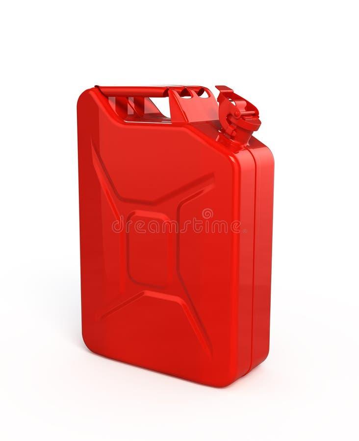 五加仑装之汽油罐红色 向量例证
