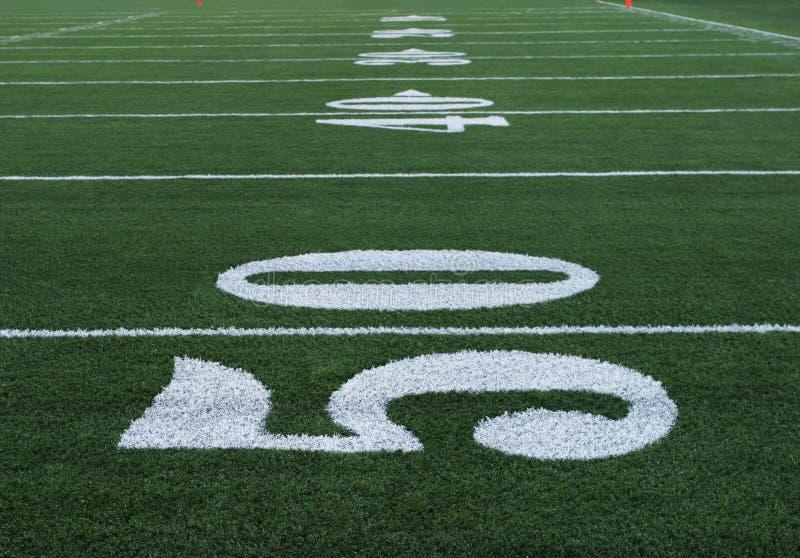 五十个橄榄球编号 免版税库存图片